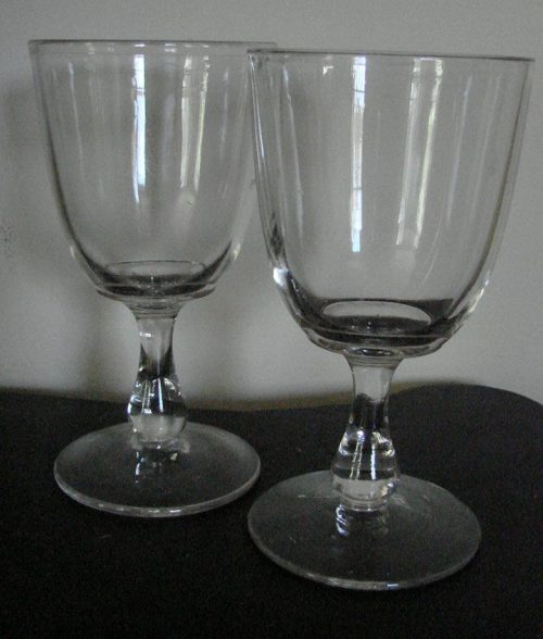 Pressed Glass Goblets